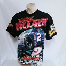 VTG 90s Rusty Wallace Nascar T Shirt All Over Print Miller Racing Tee Ford Large