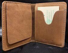 Vintage Heritage Cowhide Leather Men's Woodland Wallet Brown Made In USA