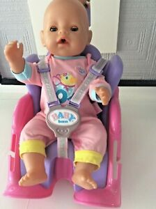 Baby Born Doll And Bike Seat