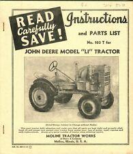 "John Deere Model ""Li"" Tractor Manual"