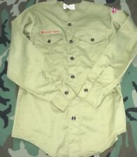 BSA BOY SCOUTS OF AMERICA SHIRT VINTAGE V NECK SCOUT B.S.A. PATCHES