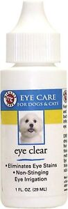 R7 Miracle Pet Eye Care Eliminate stains redness itching irrigation dog cat 1 oz