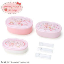 Lunch Case Bento Box 3 Set Hello Kitty Strawberry Shortcake Pink ❤ Sanrio Japan