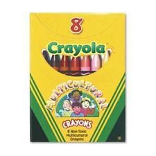 "Crayola Multicultural Crayons - 3.62"" X 0.31"" Crayon Size - Black, Sepia, Peach,"