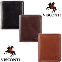 Visconti RFID Blocking Slim Men's Boxed Leather Wallet Various Colours TSC39