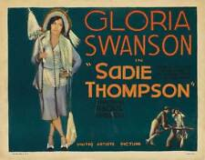 SADIE THOMPSON Movie POSTER 22x28 Half Sheet Gloria Swanson Lionel Barrymore