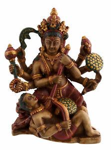 Statue de Kali ou Mahakali Dieu Hindou en Resine peinte à la main Nepal 6051