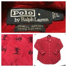 Ralph Lauren Polo All Over Print Ski Slope Graphics Mens size Large Lowell Sport