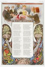 1896 Alphonse Mucha art Jacques Normand Christmas theme poem poster 16x24