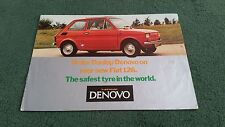 1975 1976 FIAT 126 DUNLOP DENOVO RUN FLAT TYRES - UK BROCHURE