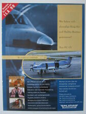 5/1998 PUB AVION PILATUS PC-12 SWISS AIRCRAFT FLUGZEUG ILA 98 ORIGINAL GERMAN AD