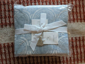 NWT Serena & Lily Cavallo Tile Duvet Cover - Full Queen Blue Chambray - $368