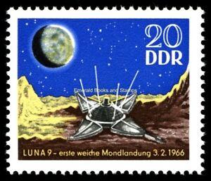 EBS East Germany DDR 1966 First soft moon landing Luna 9 Michel 1168 MNH**