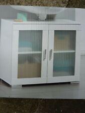 69x58x36Glass 2 Door Bathroom Under Sink Cabinet Undersink Cupboard(f)FreeUKPOST
