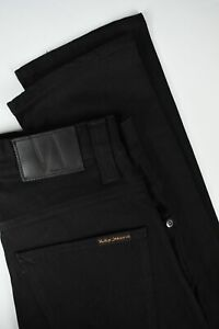 NUDIE Jeans GRIM TIM ORG. BLACK RING Women's W27/L30 Classic Jeans 1321_pc