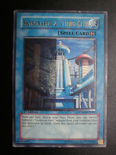 Yugioh 1st Ed Ultimate Rare Misprint Skyscraper 2 - Hero City Lightly Played