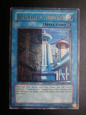 Yugioh 1st Ed Ultimate Rare Misprint Skyscraper 2 - Hero City Lightly Played