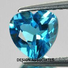 SWISS BLUE TOPAZ 7 MM HEART CUT ALL NATURAL  AAA