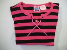 Camp Beverly Hills Girl's Pink & Black Stripe Top - Size S/CH