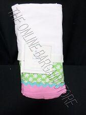 Pottery Barn Kids Pbk Simone Bed Skirt Baby Crib New Dust Ruffle Pink Green