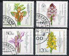 Bundespost 1225 - 1228 gestempeld motief bloemen