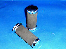 Harley Cushion Grip Set with Chrome Ends replace #  56006-82