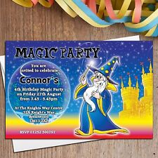 10 Personalised Boys Girls Magic Magician Birthday Party Invitations ANY AGE