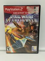 Star Wars Starfighter Playstation 2 PS2 Greatest Hits Game Complete!