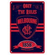 AFL Melbourne Retro Tin Sign