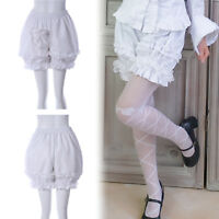 Ruffle White Lace Hip Bloomers Cosplay Lolita Gothic Shorts Women Short Pants