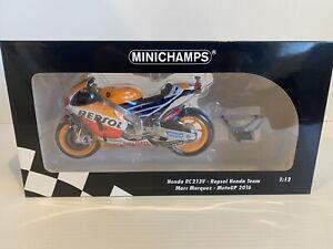 Minichamps 1/12 Marc Marquez Repsol Honda MotoGP 2016
