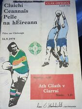 1979 All Ireland Football Final Programme