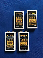 4 of 9v NiMh 250mAh #1 Rechargeable batteries for Meters,Electronics...FREE ship