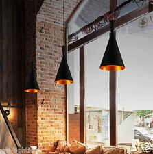 Industrial Black Lampshade Chandelier Vintage Retro Ceiling LED Pendant Light 40w 220-240v Type a