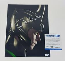 Tom Hiddleston Autographed Signed 11x14 Photo Loki Avengers ACOA