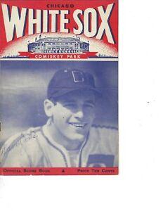 1946 baseball program Philadelphia A's Chicago White Sox unscored
