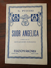 D12> LIBRETTO SUOR ANGELICA - G. PUCCINI - EDIZIONI RICORDI - 1918