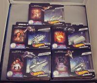 Lot (1-5) Hot Wheels Star Wars Commemorative Series Starships Build A Deathstar!