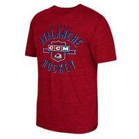 "Colorado Avalanche Reebok NHL Men's Red ""Supra Shield"" Tri-Blend T-Shirt AM2009"
