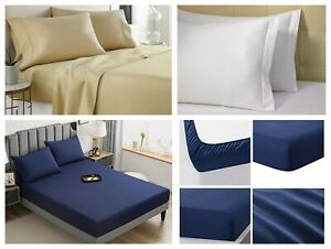 4 Piece Deep Pocket Bed Sheet Set Super Soft 1900 Count Hotel Quality Sheet Sets