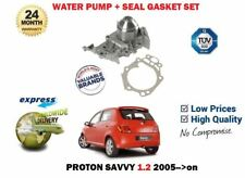 FOR PROTON SAVVY 1.2i G4F 16v 9/2005-> NEW WATER PUMP + GASKET SET 8200238333