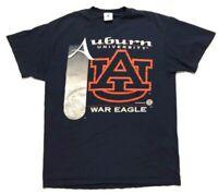 Vintage Delta Auburn Tigers T Shirt Size Large War Eagle Single Stitch Navy Blue