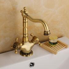 Antique Brass Tall Bathroom Basin Waterfall Taps Mixer Faucet Vessel Sink Spout