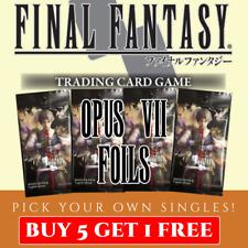 Final Fantasy TCG Opus 7 Single Cards C R S Foils (Buy 5 get 1 free!)