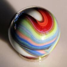 Marbles - (1) Translucent Striped Swirl (Oxblood Blue Green) - Good to Near Mint