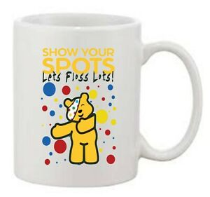 Children in Need 'Show your Spots, Let's Floss Lots' Pudsey Bear Printed Mug