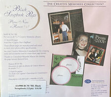 New listing Creative Memories RCM 7BL 7x7 Black Scrapbook 12 Sheets/24 Pages New Old Style