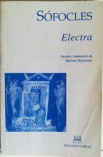 Electra. Sofocles. Libro