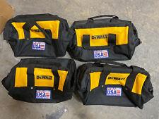 "Brand New X4 Dewalt 13"" Heavy Duty Nylon Tool Bag 13"" x 10"" x 9"" 4 Bags USA"