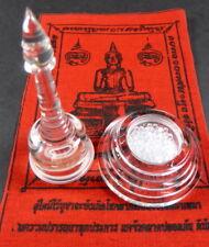CLEAR BUDDHA BRAIN RELICS INDIA SARIRA PEARLS ROSES PHRA TATH LARGE RELIC STUPA